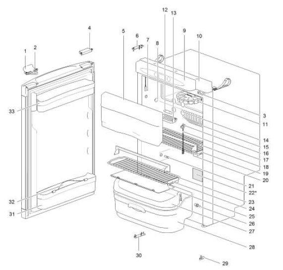 refrigerator spare parts list pdf